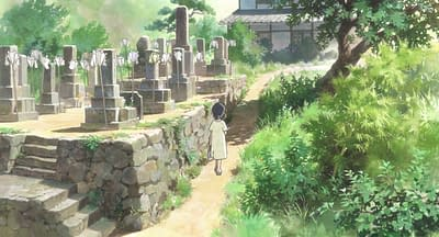 """Rows of white Bon Festival lanterns from """"In This Corner of the World"""""""