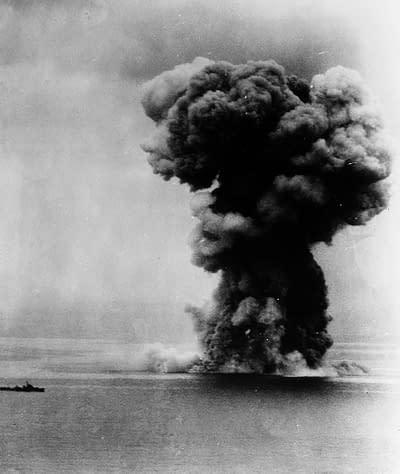 Explosion of Battleship Yamato, April 7th, 1945